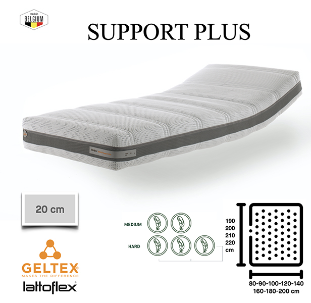 Support Plus Lattoflex - 18cm Support Geltex