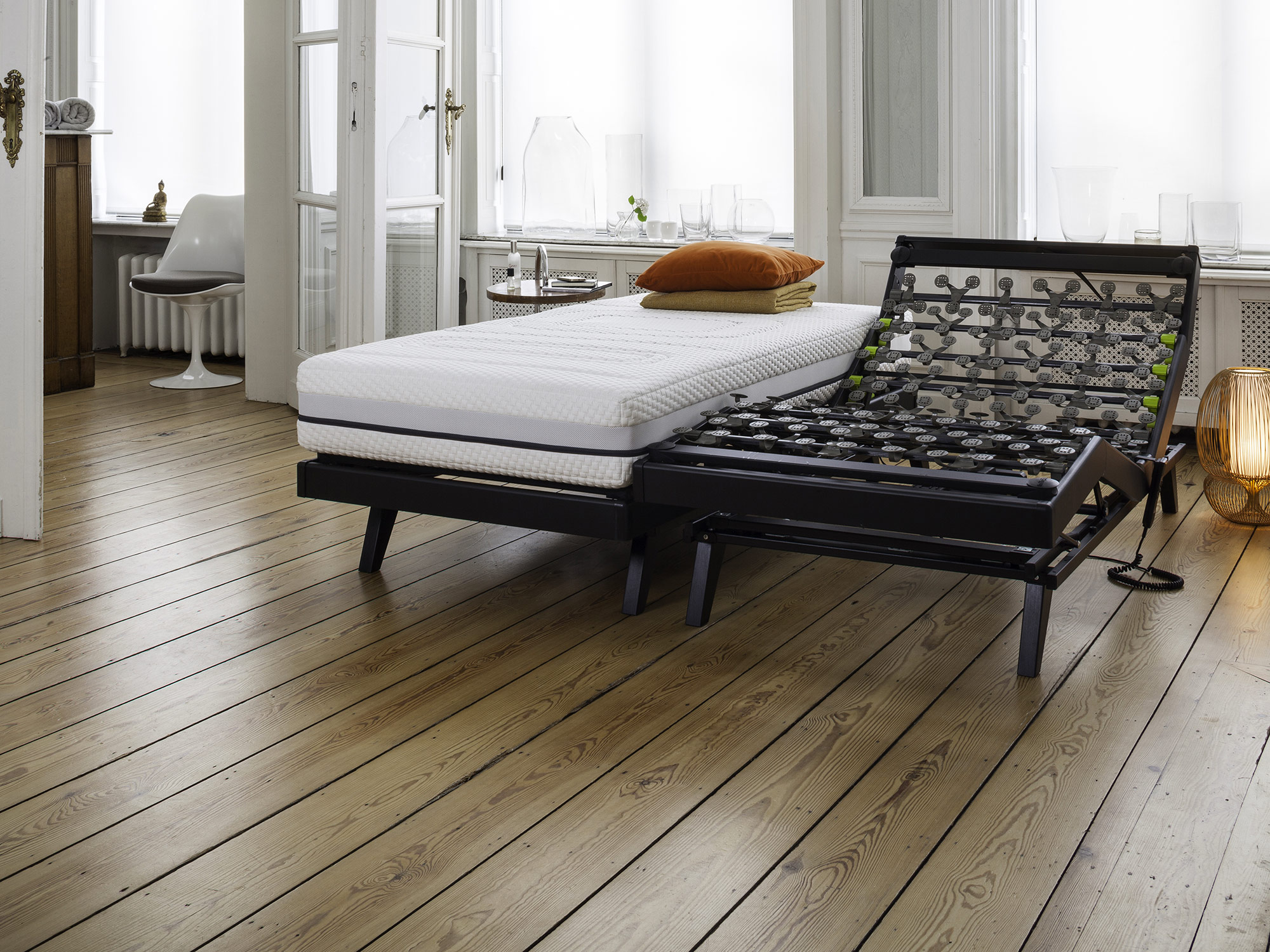 The slatted bed base