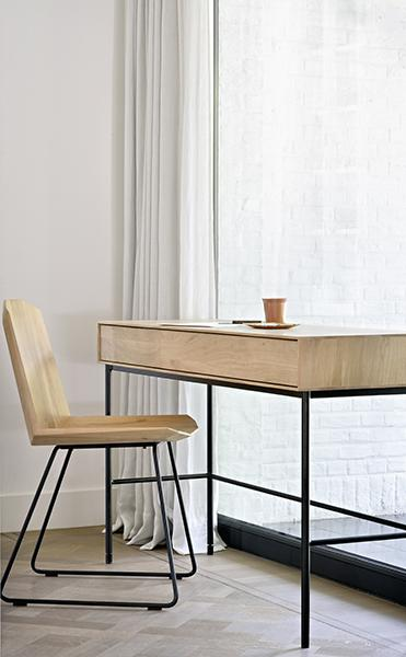 Ethnicraft - Whitebird desk + Facette